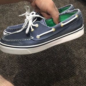Sperry Navy Boat Shoes 7